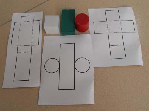 展开模型由长方体,特殊长方体,圆柱体,正方体及它们相应的展开