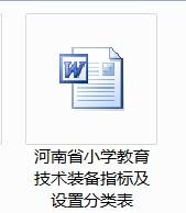 河南省小学教育技术装备指标及设置分类表(小学)